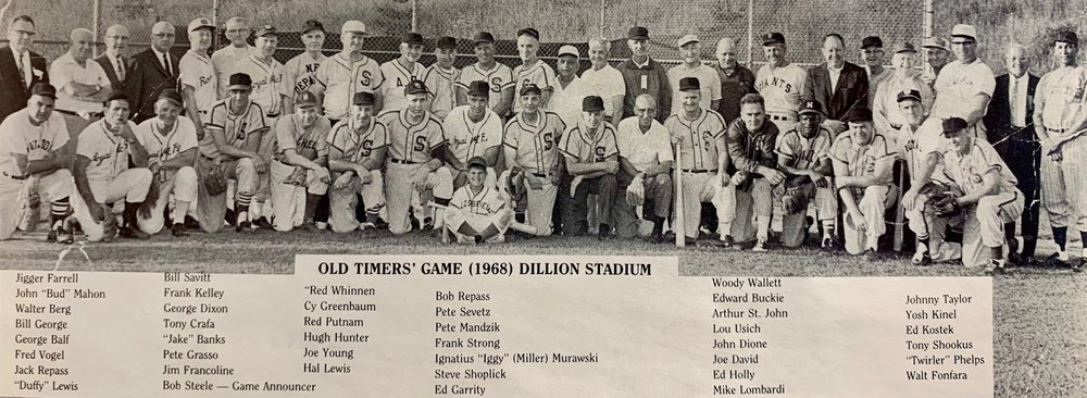 GHTBL Old-Timer's Game, Dillon Stadium, 1968.