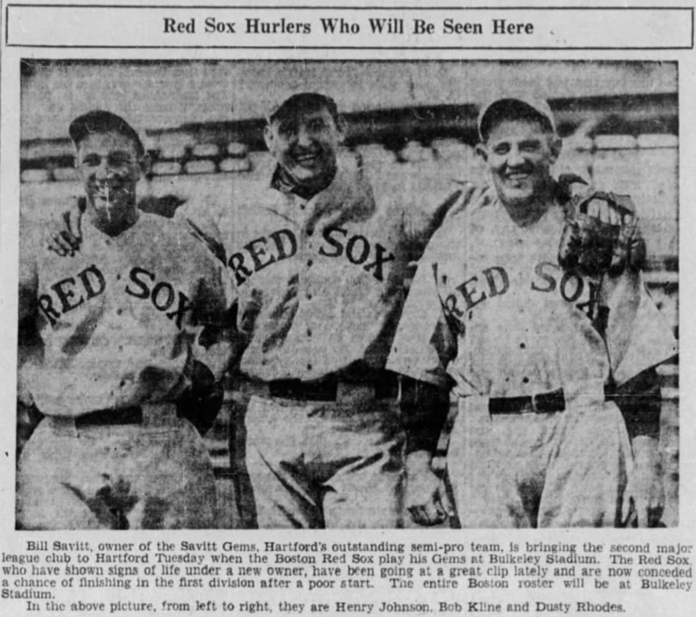 Boston Red Sox vs. Savitt Gems, 1933.