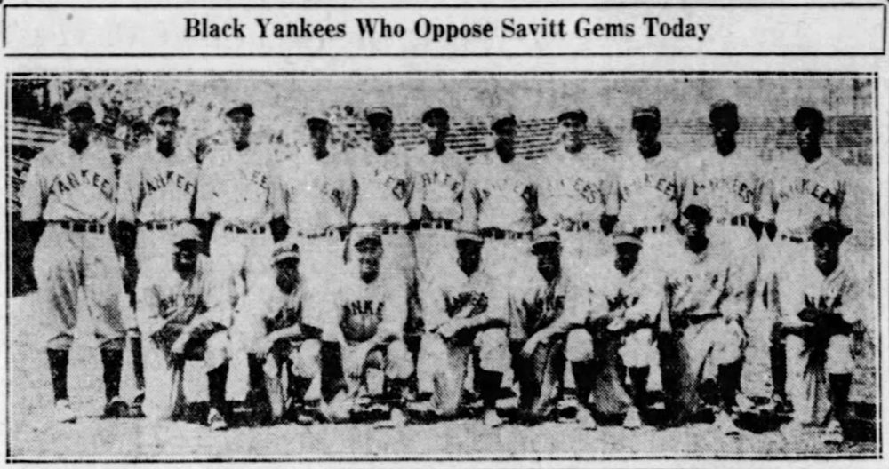 1935 New York Black Yankees.