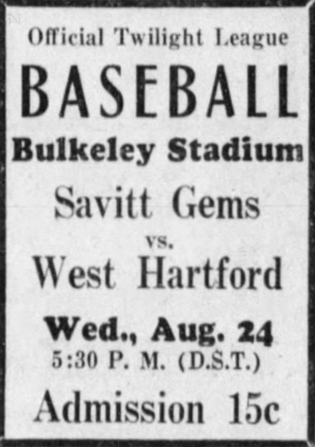 Savitt Gems vs. West Hartford, 1932.