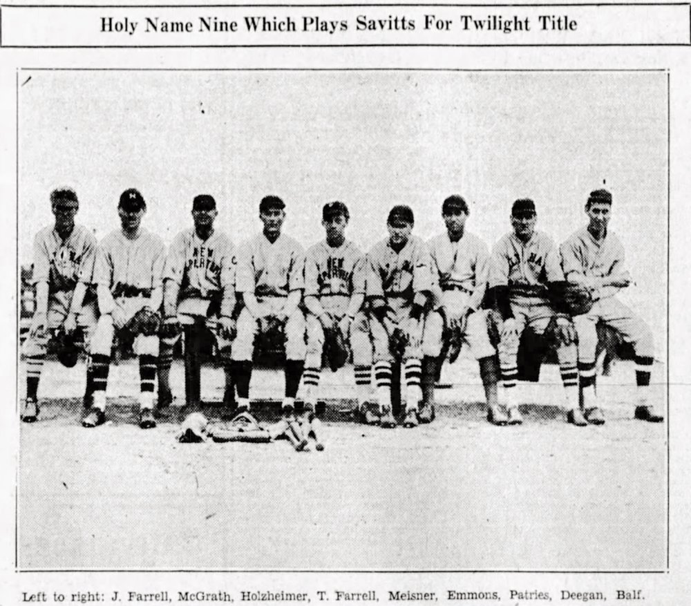 1930 Holy Name, Hartford Twilight League.