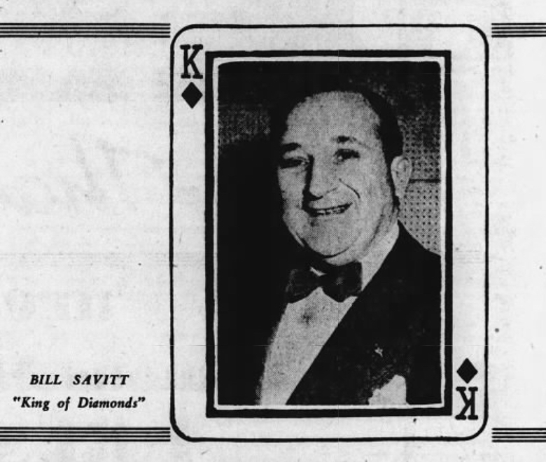 Bill Savitt, King of Diamonds 1949.