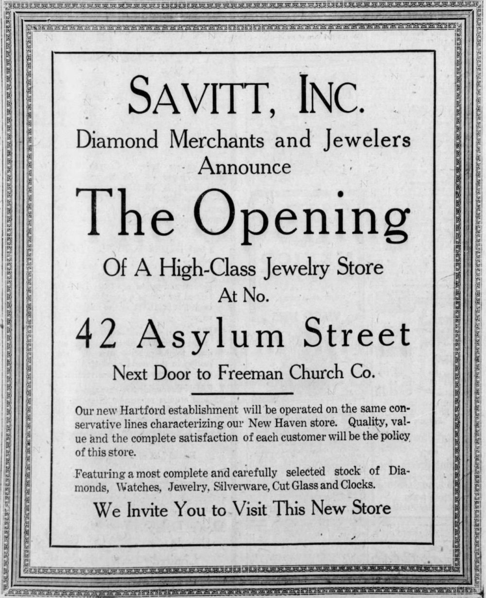 Savitt grand opening advertisement, 1925.