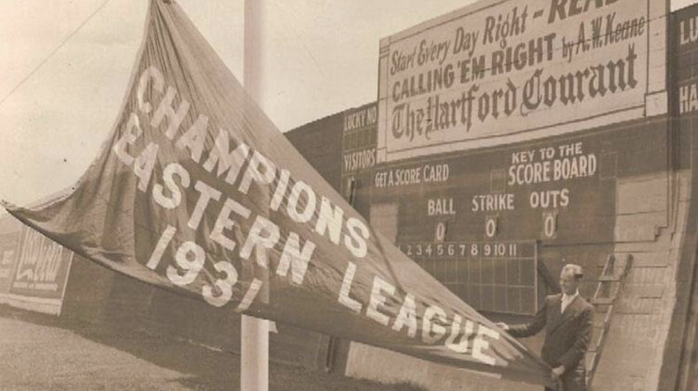 Hartford Senators disband a season after wining the Eastern League pennant, Bulkeley Stadium, 1932.