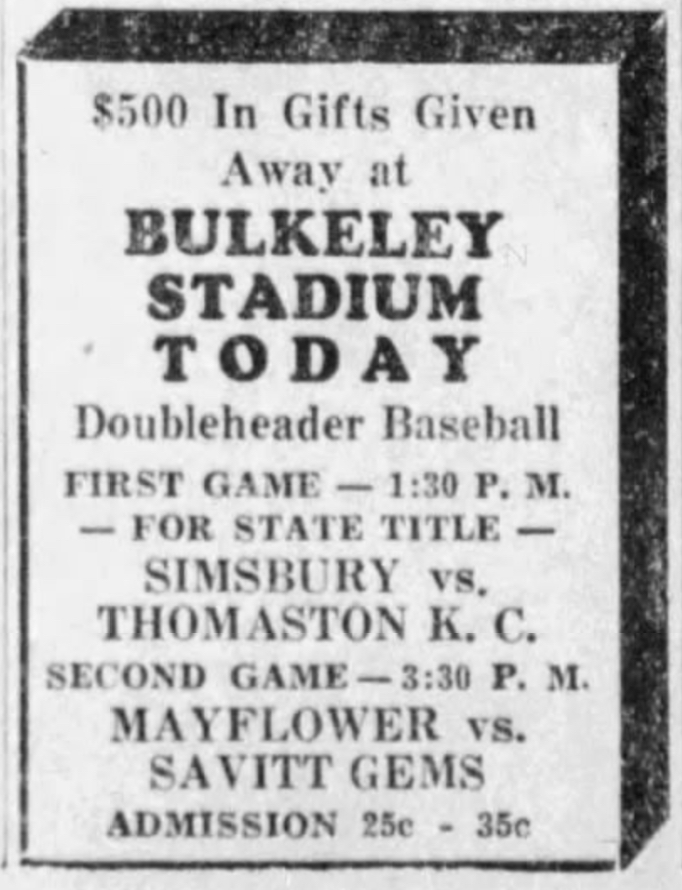 Savitt Gems vs. Maylfower Sales,1933.