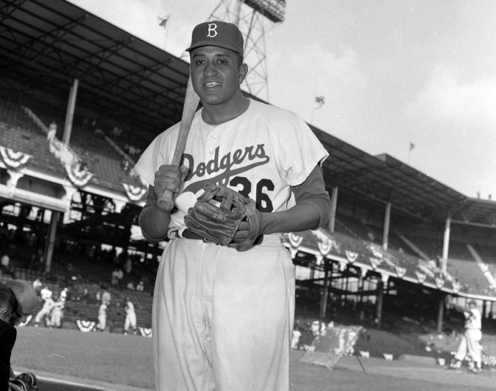 Don Newcombe, Brooklyn Dodgers, 1955.
