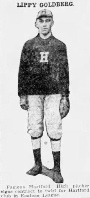 Lefty Goldberg, Pitcher, Hartford Senators, 1916.