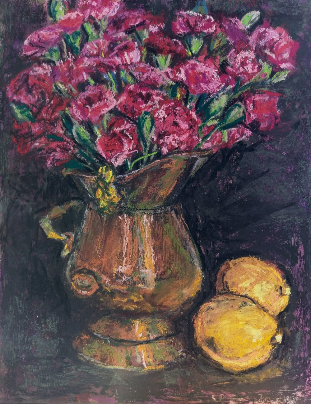 Carnations with Lemons