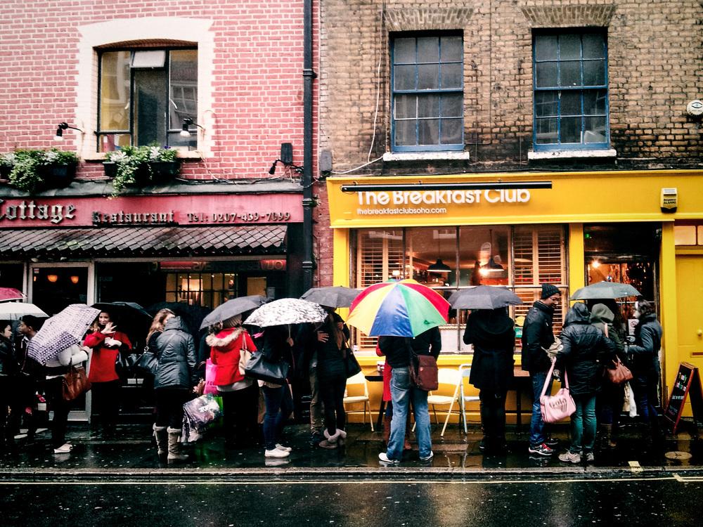 London, England; The Breakfast Club; Brunch in London