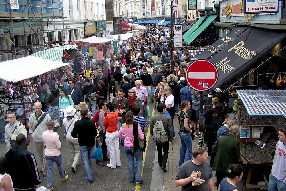 London, England; Portobello Market