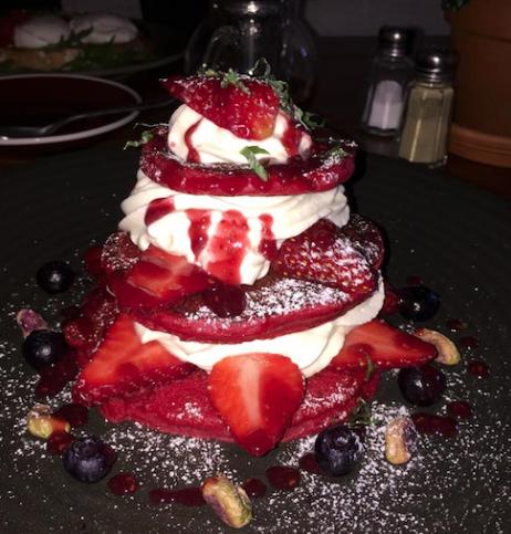 Sydney, Australia; Local Mbassy; Pancakes; Red velvet pancakes