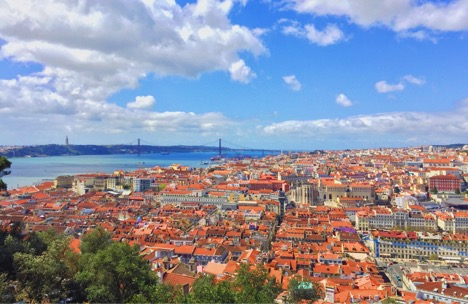 View of Lisbon from the gardens of São Jorge Castle