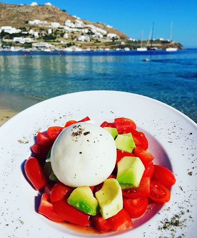 Location: Mykonos, Greece🌍🇬🇷 #allthingsabroad #abroad #ata #abroadlife #lifeabroad #studyabroad #study #student #studentuniverse #travel #travelphotography #travelingram #traveller #traveler #travelgram #travels #beautiful #beautifuldestinations #burrata #cheese #tomatoes #avocado #ocean #scenic #views