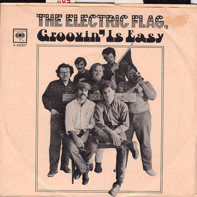 "The Electric Flag ""Groovn' is Easy"" vinyl. #theelectricflag #barrygoldberg #bg #michaelbloomfield #twojewsblues #music #peace #love"