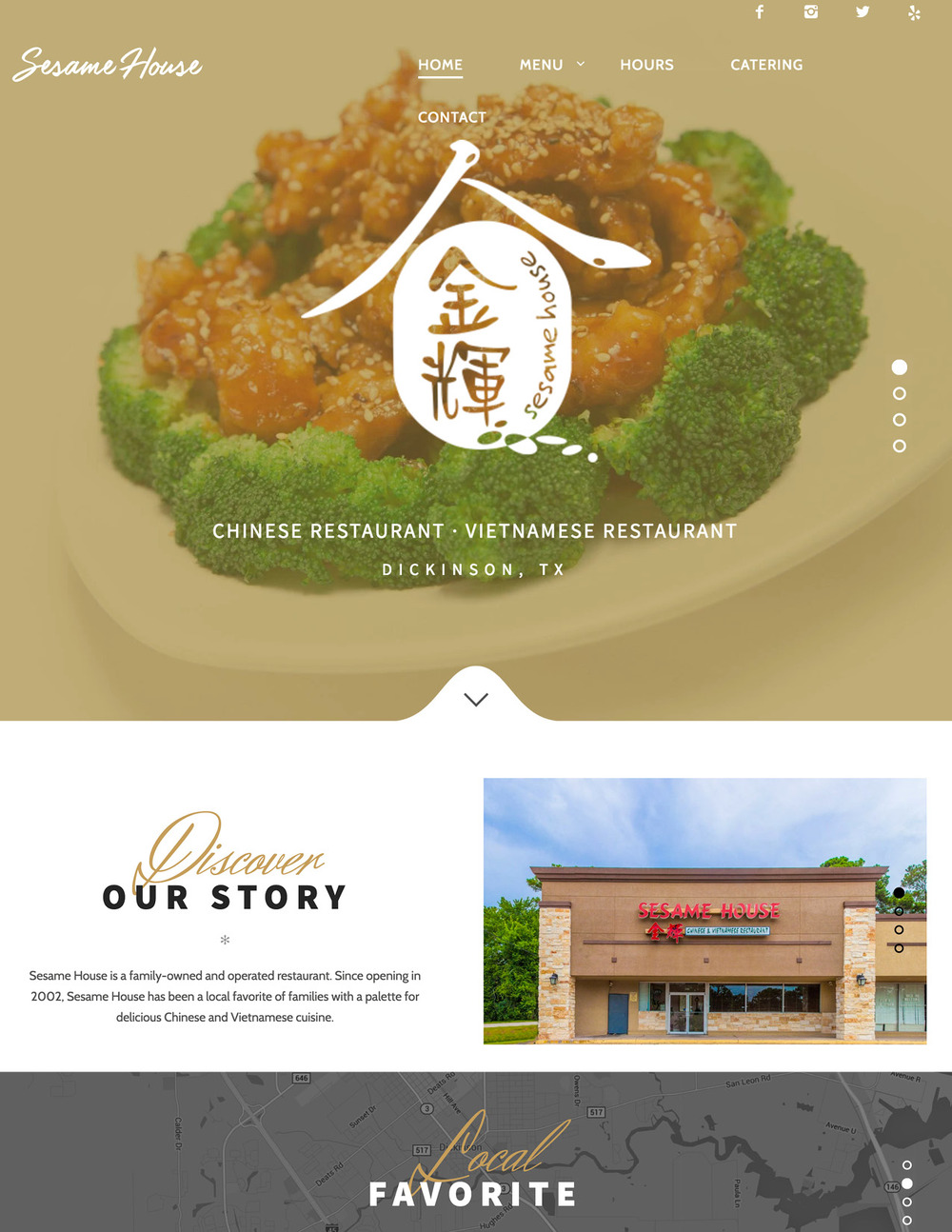 Sesame House Dickinson - Website design and Photography