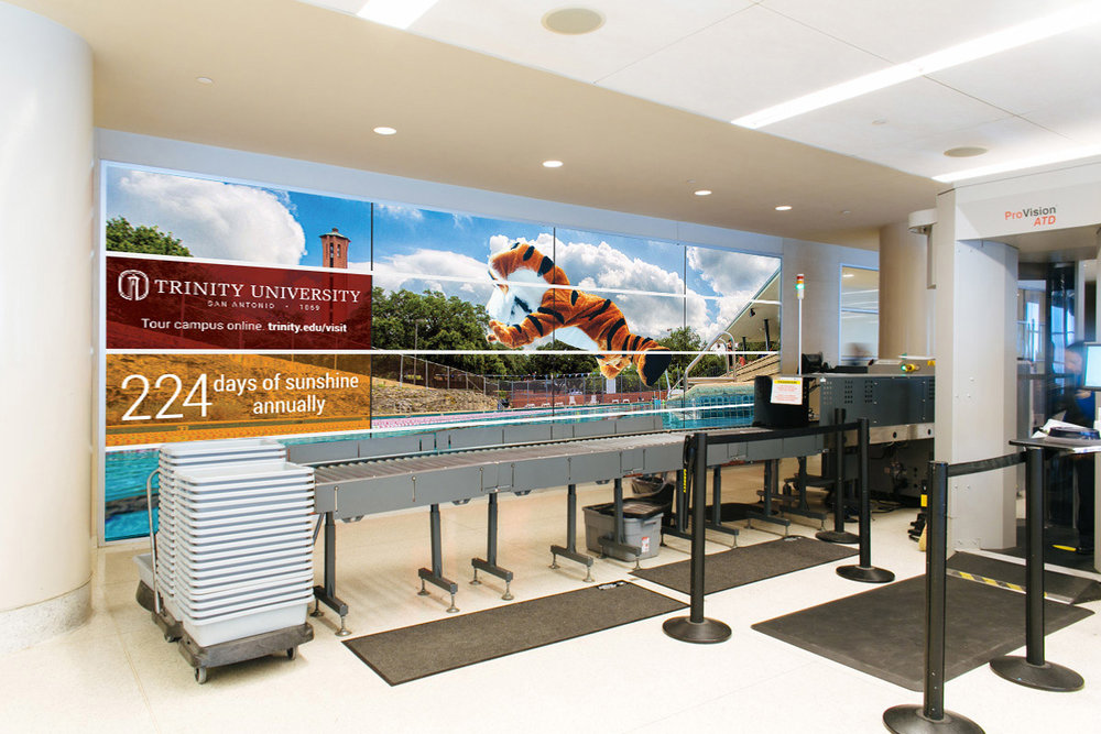 Trinity University - Wallscape for Trinity University in San Antonio Airport