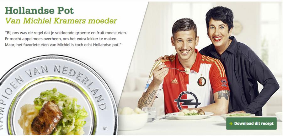 Feyenoord player Michiel Kramer with his mom