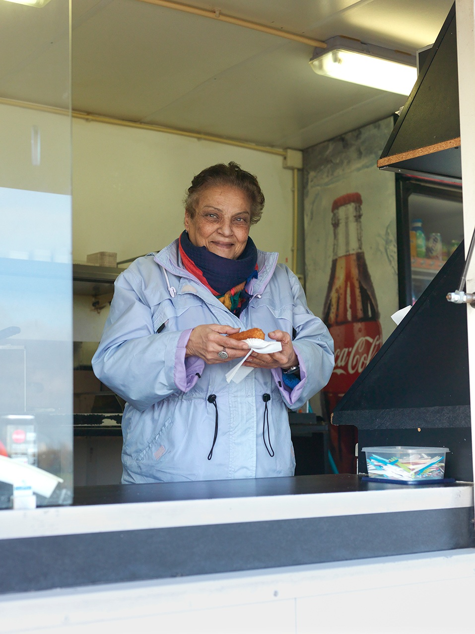 Aida Abdoul owner of a snack wagon