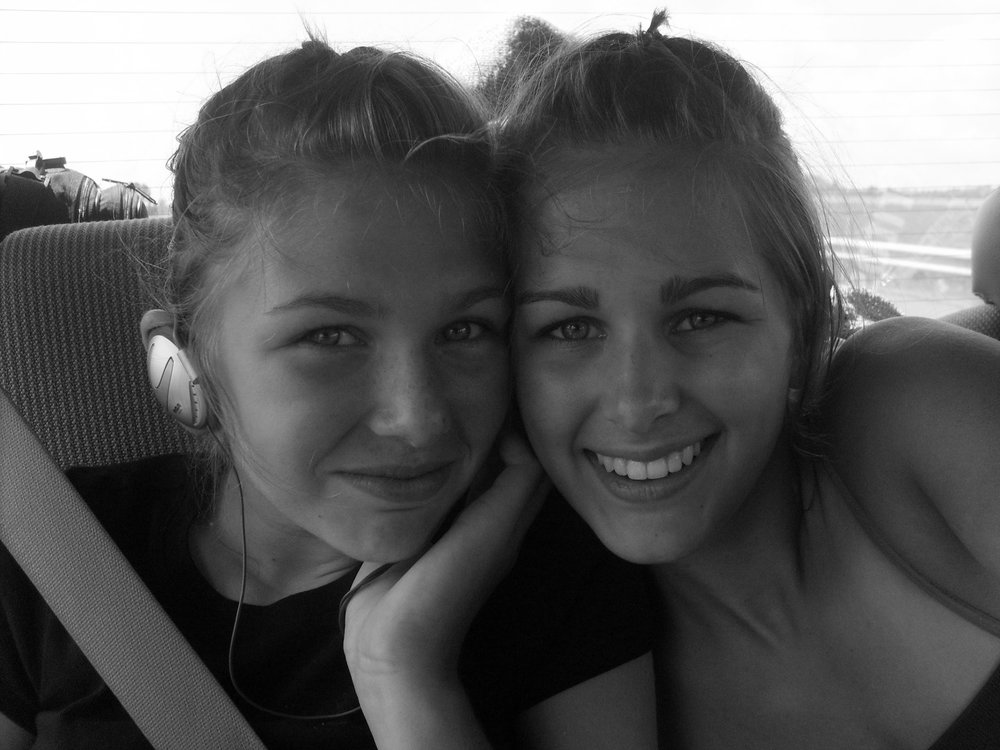 <My sister and I on a family road trip to Prince Edward Island in 2007>