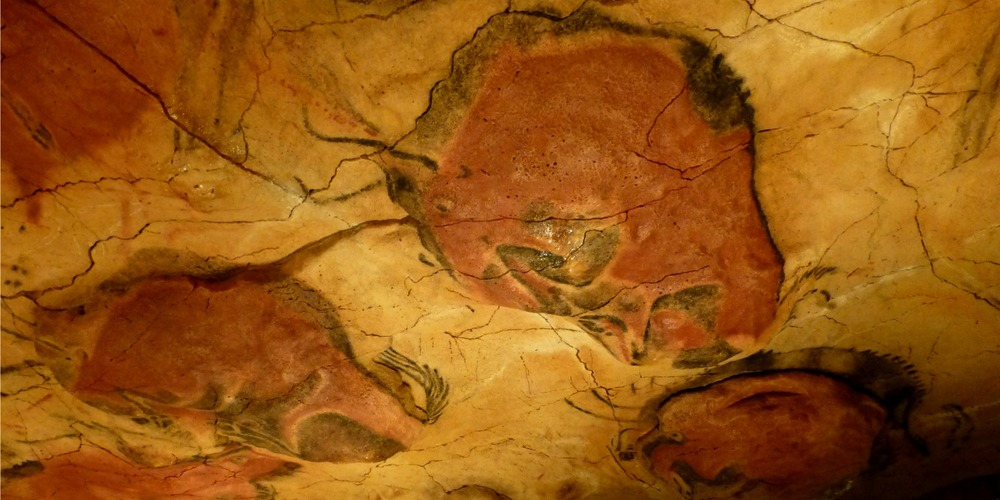 Paleolithic art from 14,500 years ago at Altamira cave