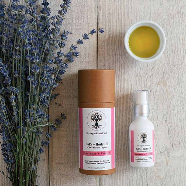 Why not treat yourself to a warm bath or body massage with our beautiful body oils Lavender & Vetiver - Natural Bath & Body Oil  An invigorating infusion of Bulgarian Lavender will relax your body and soothe the soul. Highly nourishing and vitamin rich Sweet Almond, Green Tea Seed and extra virgin Olive oils unite in harmony to transform and beautify your skin for a sinfully smooth more youthful appearance while aroma therapeutic essential oils feed both senses and spirit. Regular use will result in noticeably softer, smoother, healthier skin while minimizing the effects of aging. Ideal for very dry and irritated skin conditions such as eczema, urticaria and psoriasis.  Function - Extra Rich Moisturizer, Irritated Skin Relief, Age Prevention, Eczema Relief, Damaged Skin Repair, Sunburn Relief, Insect Bite Relief, Wound Healing  Skin Type - Normal, Dry, Sensitive, Irritated, Eczema, Psoriasis, Urticaria  Emotional Properties - Soothing  Scent - Floral  Suitable For - All Ages  Usage Directions - Add a capful to running bath, massage into damp body right after showering or use as an aroma therapeutic massage oil.  Size - 45ml / 1.5oz  Ingredients- Organic oils of sweet almond, sunflower, olive, green tea seed and jojoba*, essential oils of lavender*, cypress, juniper berry, fir needle & vetiver *Certified organic.  #acne #ezcema #psoriasis  #organic #natural #chemicalfree #crueltyfree #bathoil #massagetherapy #massage #essentialoils #bath #baby #dryskin #reiki #meditation #yoga #vegan #rawvegan  order online or your nearest stockist - free online shipping