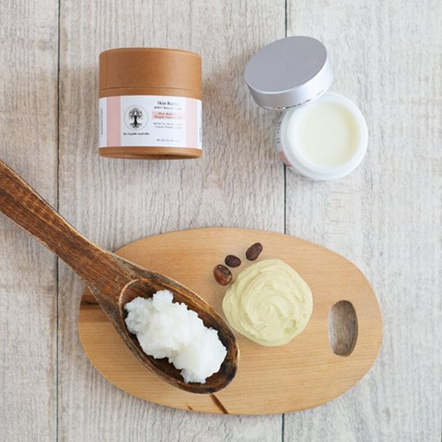 AFTER A DAY IN THE SUN ADD MOISTURE BACK INTO YOUR SKIN || Shea Butter & Virgin Coconut – Natural Skin Butter  A fragrance free blend created especially for those with extreme sensitivities to any type of scent.  Our deep moisturising formula contains a whopping, 65% Shea Butter, certified organic virgin coconut oil and an abundance of healing vitamins, phyto-nutrients and anti-oxidants to help soothe, moisturise and repair dry, damaged skin.  Regular use will result in noticeably softer, smoother, healthier skin while minimizing the effects of aging. Ideal for very dry and irritated skin conditions such as eczema, urticaria and psoriasis.  Function - Extra Rich Moisturizer, Irritated Skin Relief, Age Prevention, Eczema Relief, Damaged Skin Repair, Sunburn Relief, Insect Bite Relief, Wound Healing  Skin Type - Normal, Dry, Sensitive, Irritated, Eczema, Psoriasis, Urticaria  Emotional Properties - Fragrance Free  Scent - Unscented  Suitable For - All Ages  Usage Directions - Apply to face, hands or body after bathing, showering or anytime skin feels dry, tight, irritated or uncomfortable. Can be diluted by mixing with water in your palm prior to application for a lighter feel.  size - 50ml / 1.76oz  Ingredients - Organic oils of Shea butter, virgin coconut*, sweet almond, olive, jojoba* and neem, rosemary extract *Certified organic . . #organic #body #vegan #crueltyfree #bodybutter #coconut #moisturise #natural #rawvegan #yoga #acne #psoriasis #ezcema #insta #instagood #instadaily