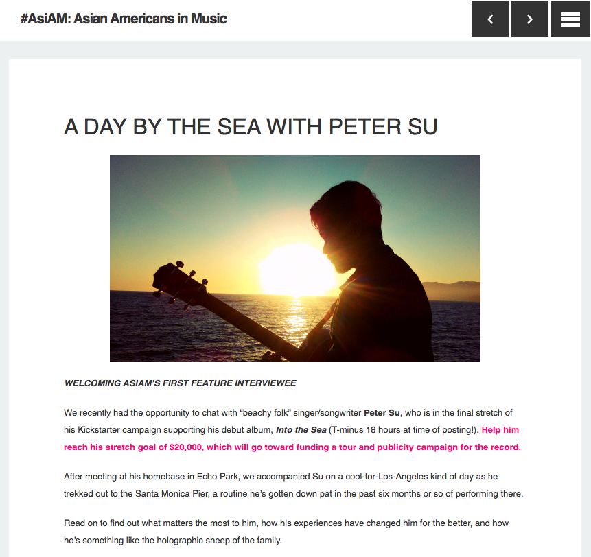 "LA Music Blog ""As I Am"" In-Depth Interview"