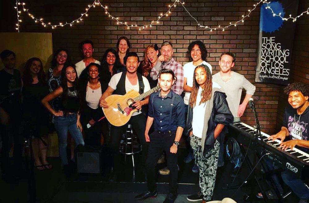 Hosting the Songwriting School of LA Open Mic