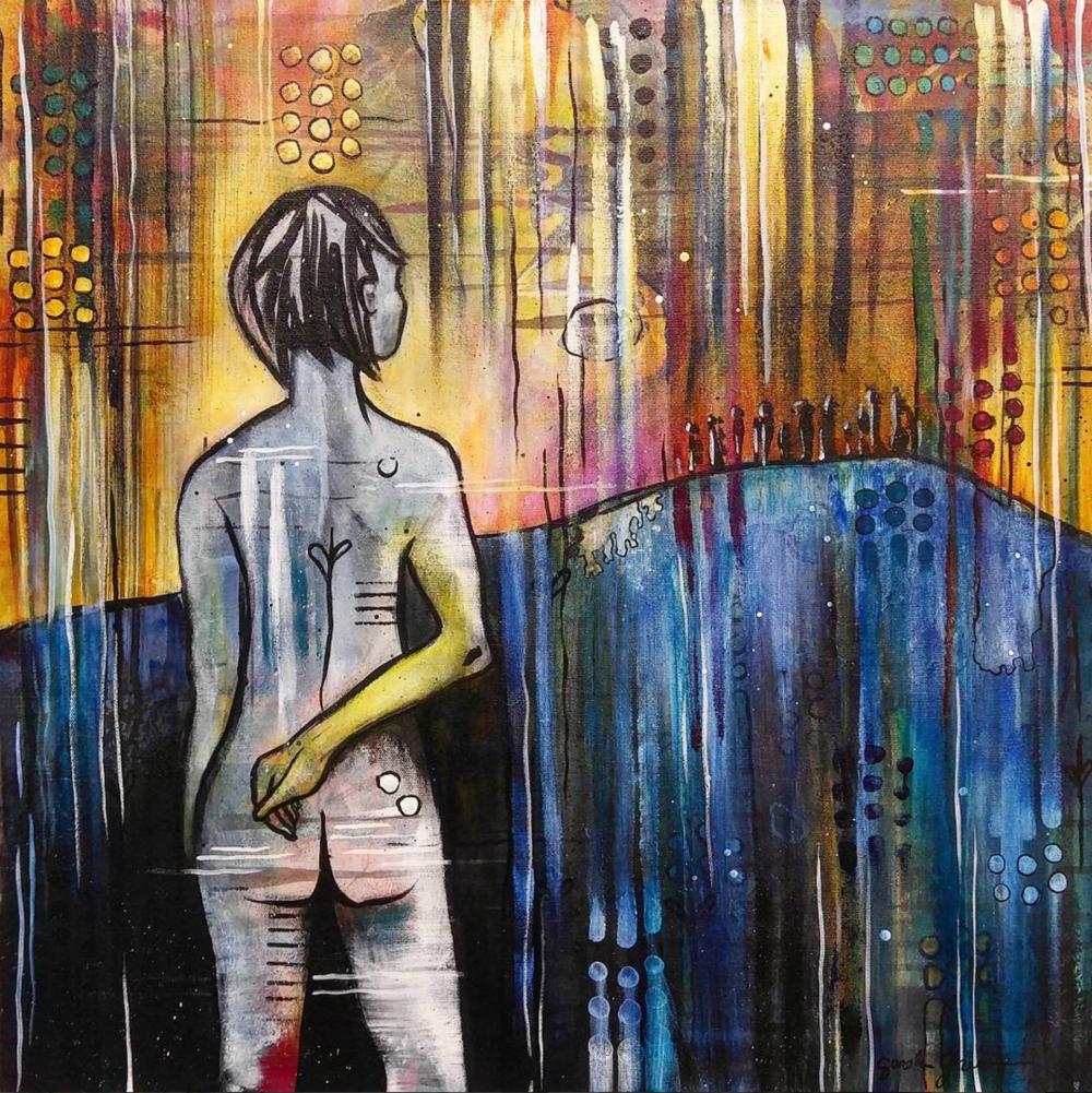 Joan | 24 x 24 inch acrylic on canvas