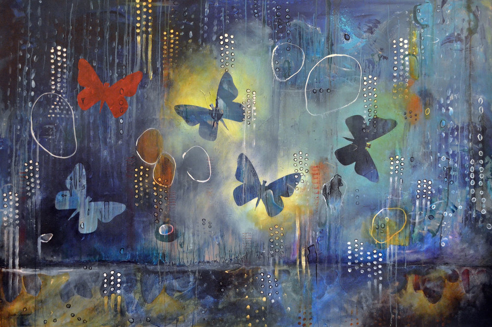 Flutter  |  48 x 60 inch acrylic on canvas