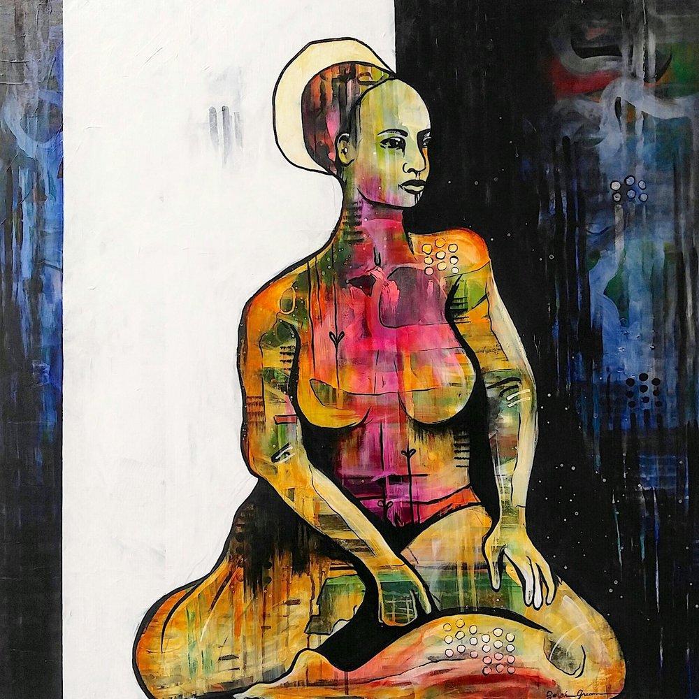 Liminal | 36 x 36 inch acrylic on canvas