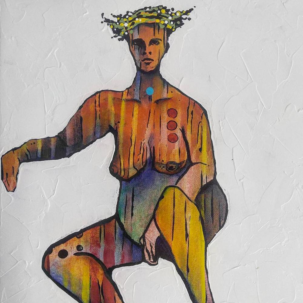 Coronation Day | 12 x 12 inch acrylic on canvas