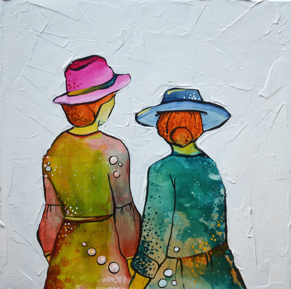 Chosen Family  | 12 x 12 inch acrylic on canvas