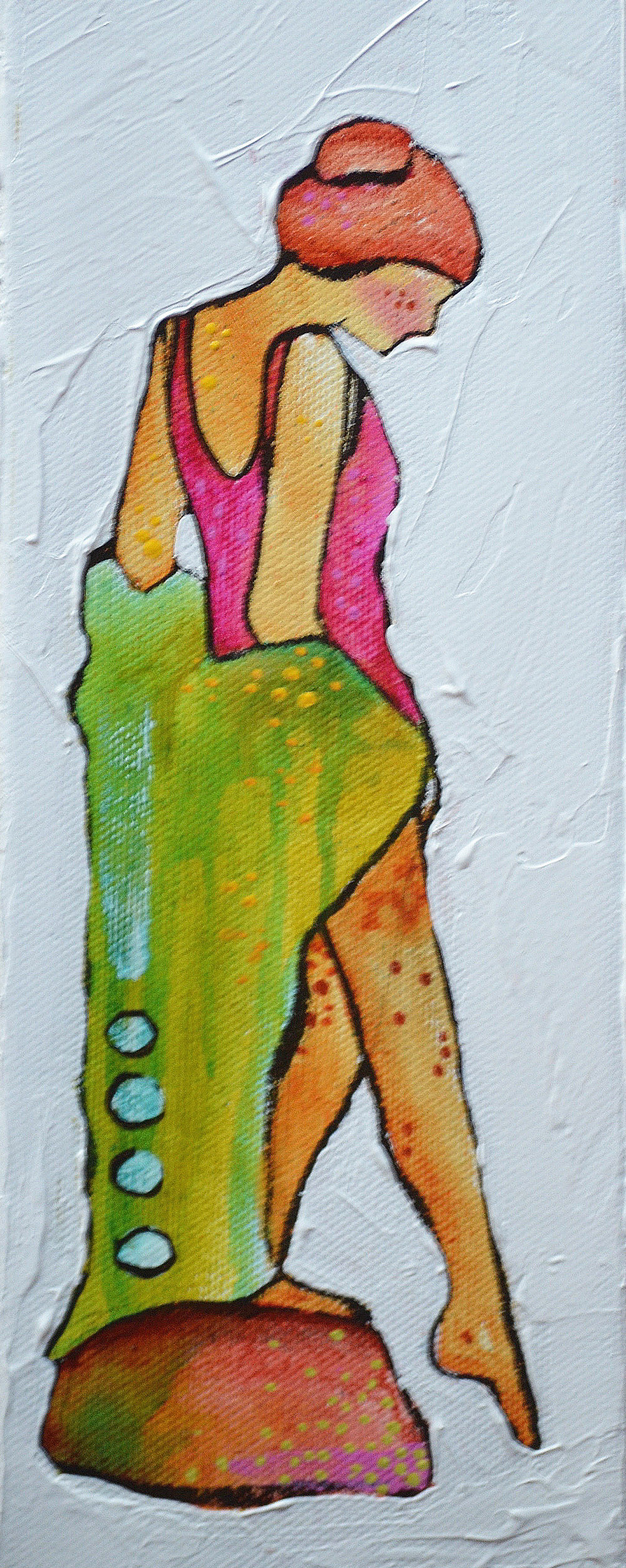 Shy   | 3 x 12 inch acrylic on canvas