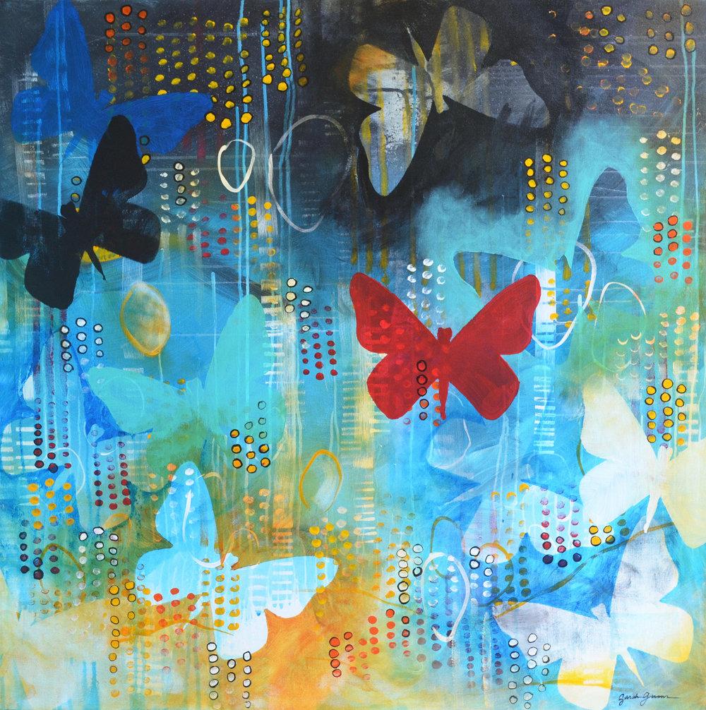 Fly  | 36 x 36 inch acrylic on canvas
