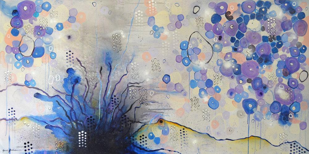 Marrow  | 36 x 72 inch acrylic on canvas