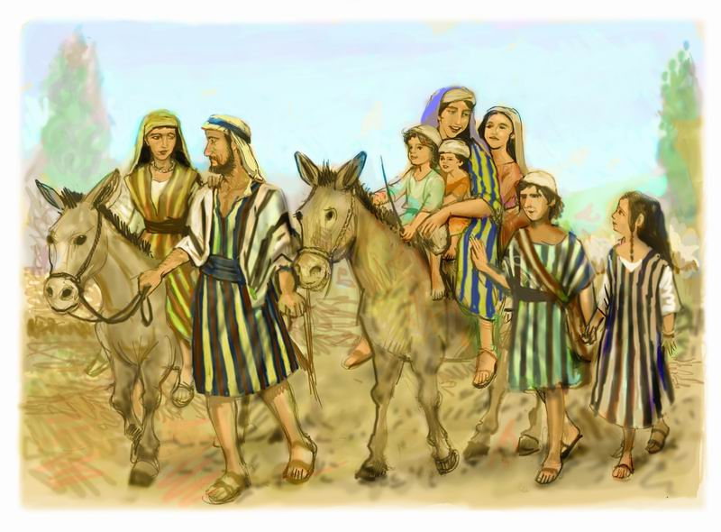 Elkanah's Journey - Illustration by Avi Katz - www.avikatz.net