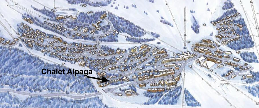 Location of the Chalet Alpaga