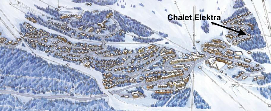 Location of the Chalet Elektra
