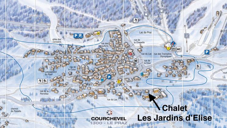 Location of the Chalet Les Jardins d'Elise