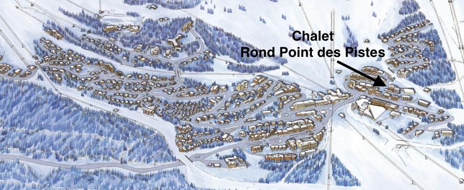 Location of the Chalet Rond Point des Pistes