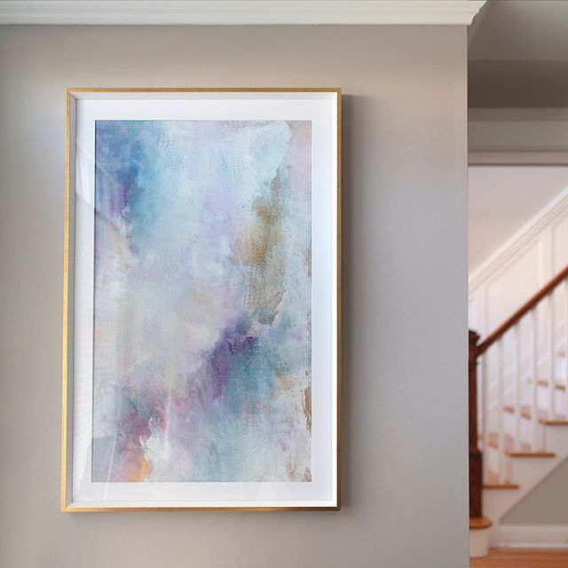 One of my very favorite, very soft abstracts hanging in my oh so cozy office nook. This is usually my morning view over a cup of coffee. Can't think of a better way to wish all the mamas out there a very Happy Mother's Day!! Enjoy.