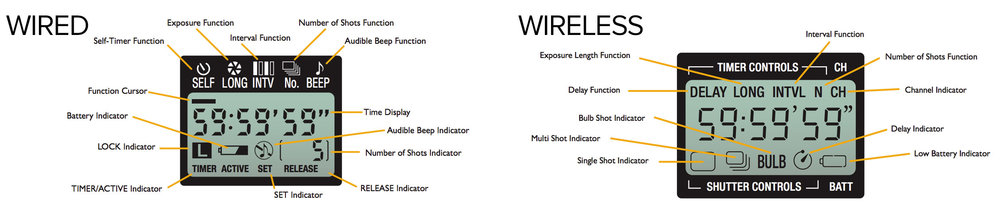 Note the wired has only the top row of functions, while wireless has both top and bottom rows of functions. (click/tap for larger view)