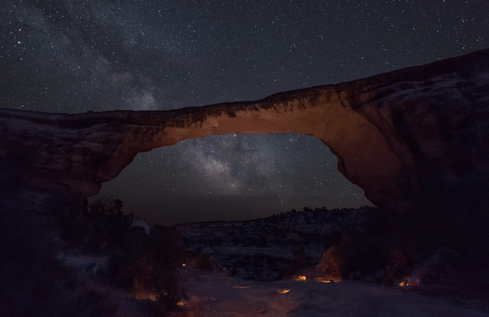 Owachomo Bridge in Natural Bridges National Monument, as photographed during our workshop there this summer.