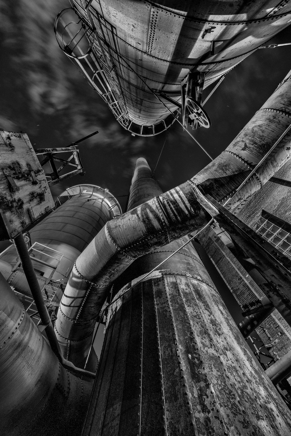 Sloss Furnaces National Historic Landmark—COMPLETED - Focus on black-and-white light painting