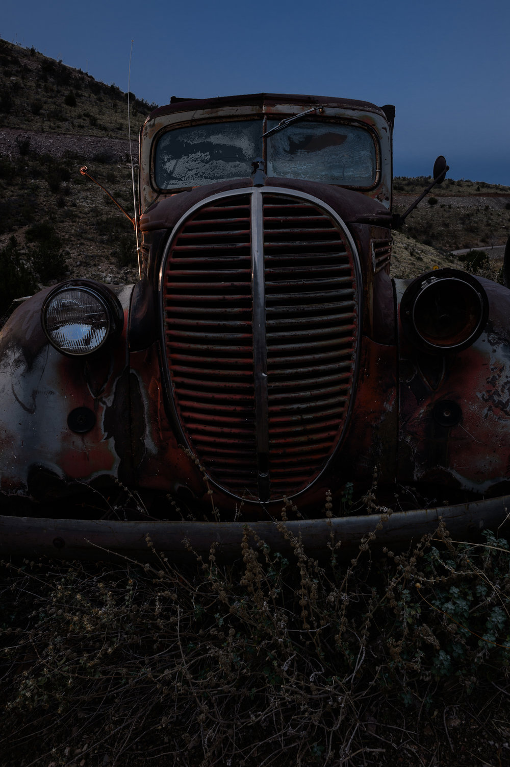 Figure 1. Jerome, Arizona. Base exposure of 1/125, f/11, ISO 100.