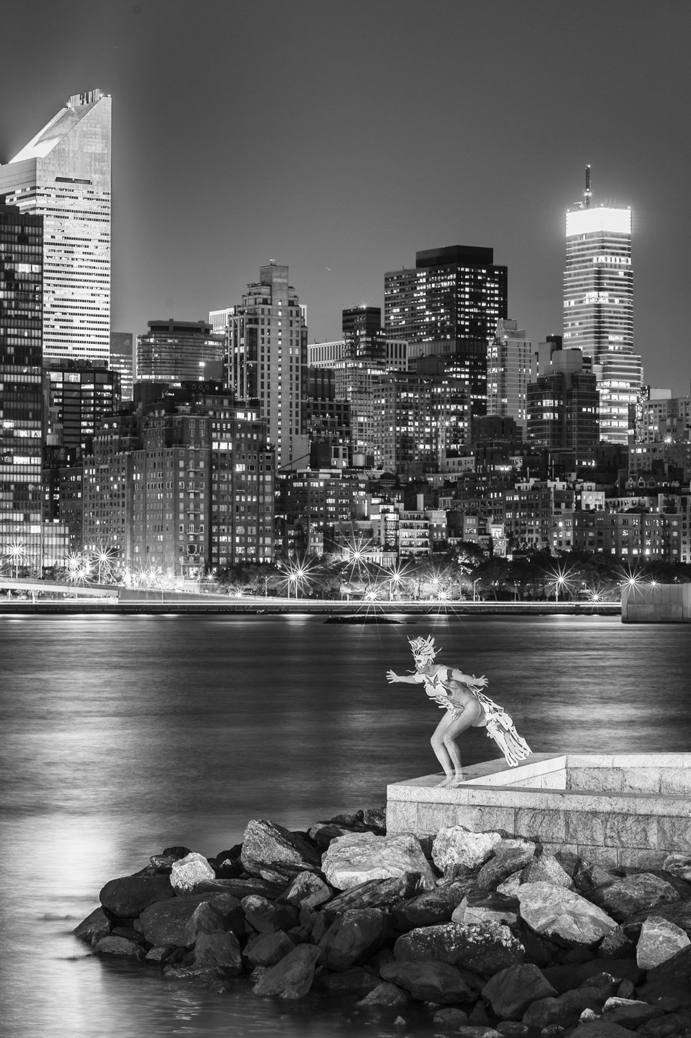 "Figure 1. ""Gymnos at Gantry Park"" (2012) from Night Paper. Nikon D700. 30 seconds, f/8, ISO 200."