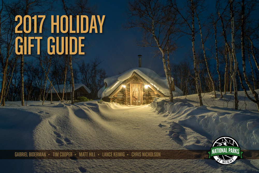 National Parks at Night 2016 Holiday Gift Guide