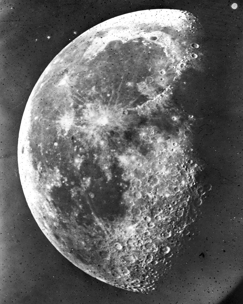 """Photo of the Moon,"" by Henry Draper, 1863."