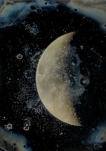 """View of the Moon,"" by John Adams Whipple, 1852."